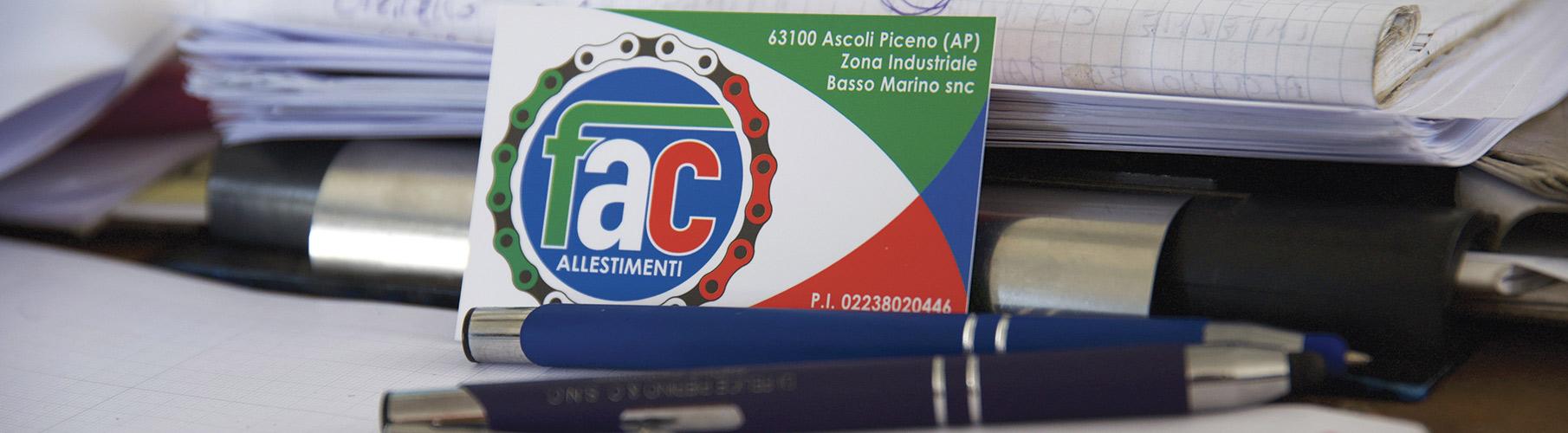 biglietto da visita di Fac Allestimenti